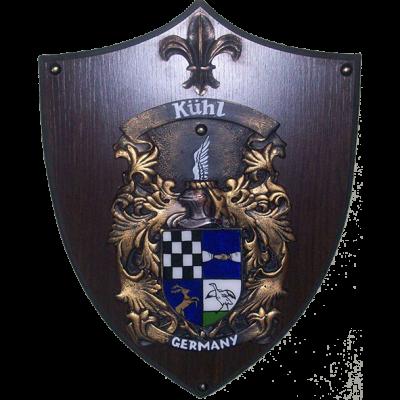Brasão de Madeira com Resina