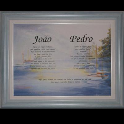 Significado do Nome Pessoal Composto (ou Casal) - Mold. Azul Pátina